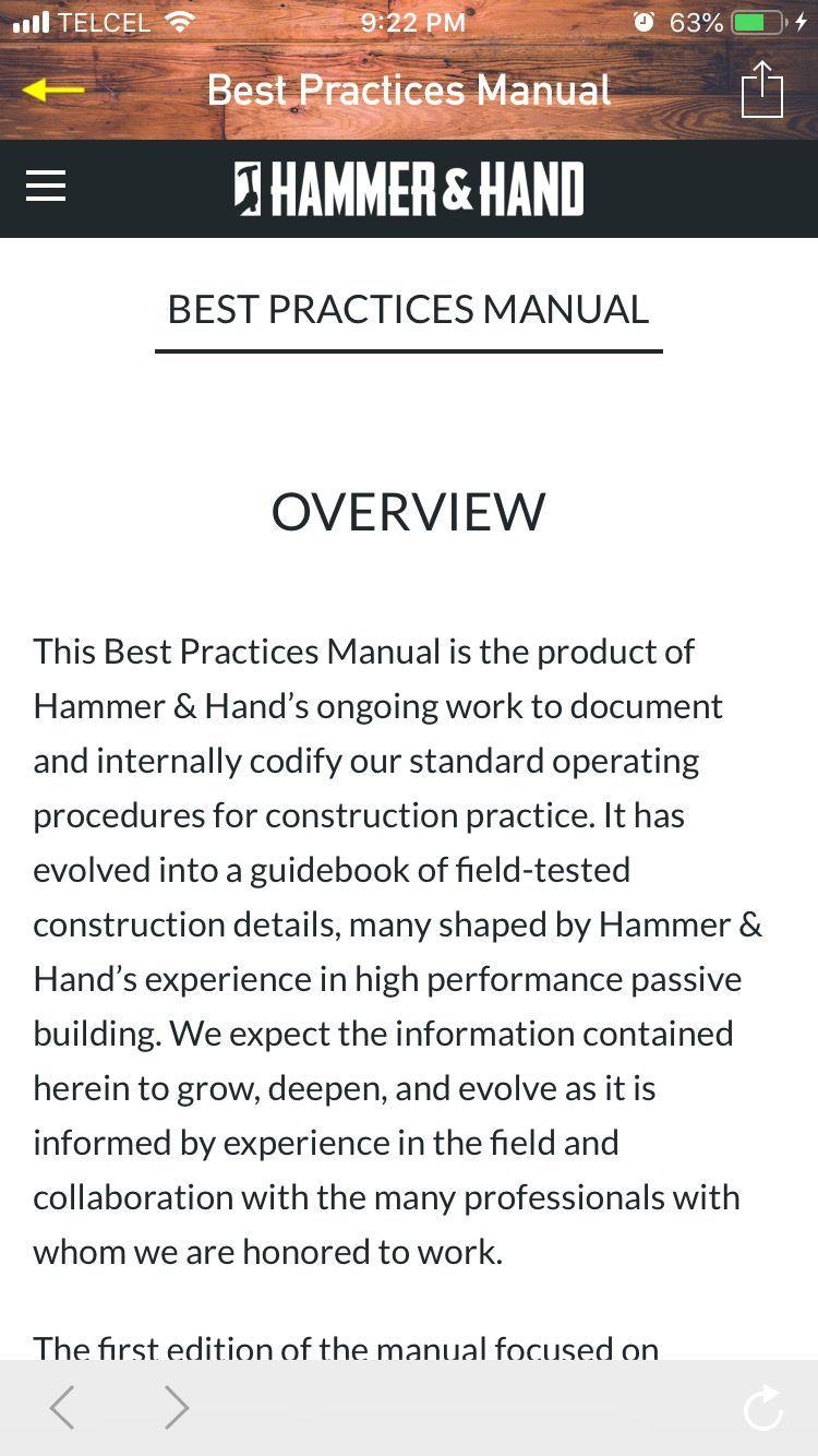 Hammer & Hand Best Practices