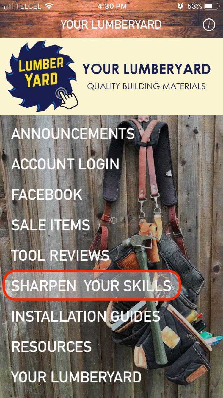 Menu: Sharpen Your Skills