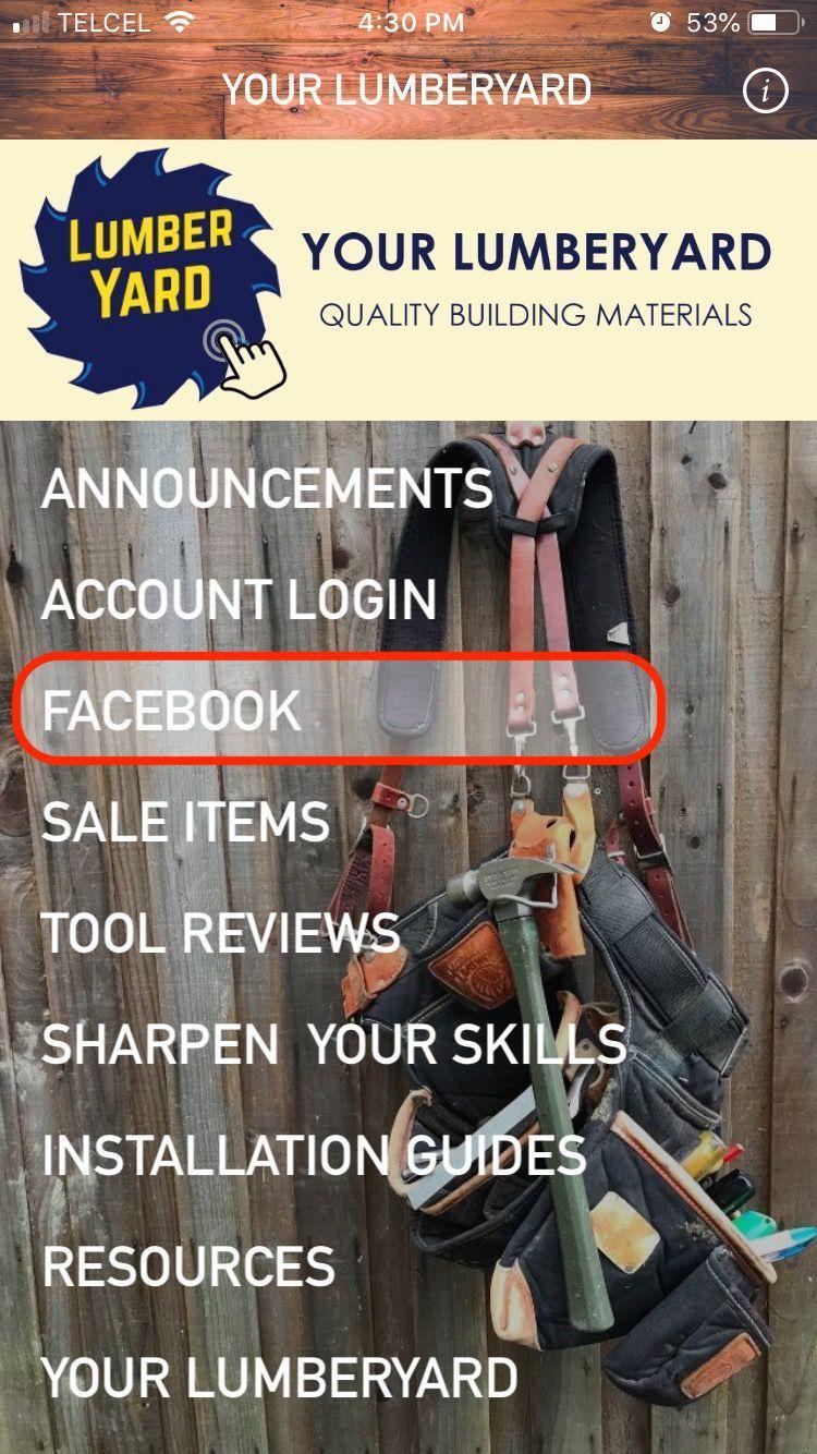 Homescreen Menu: Facebook