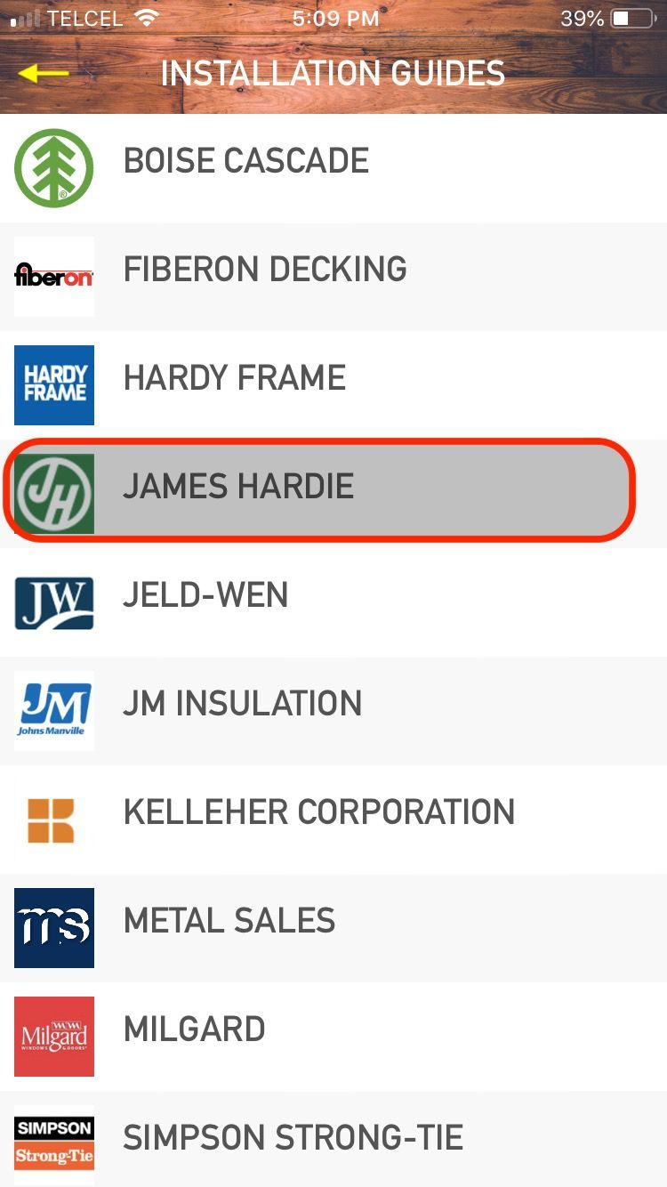 Menu: James Hardy
