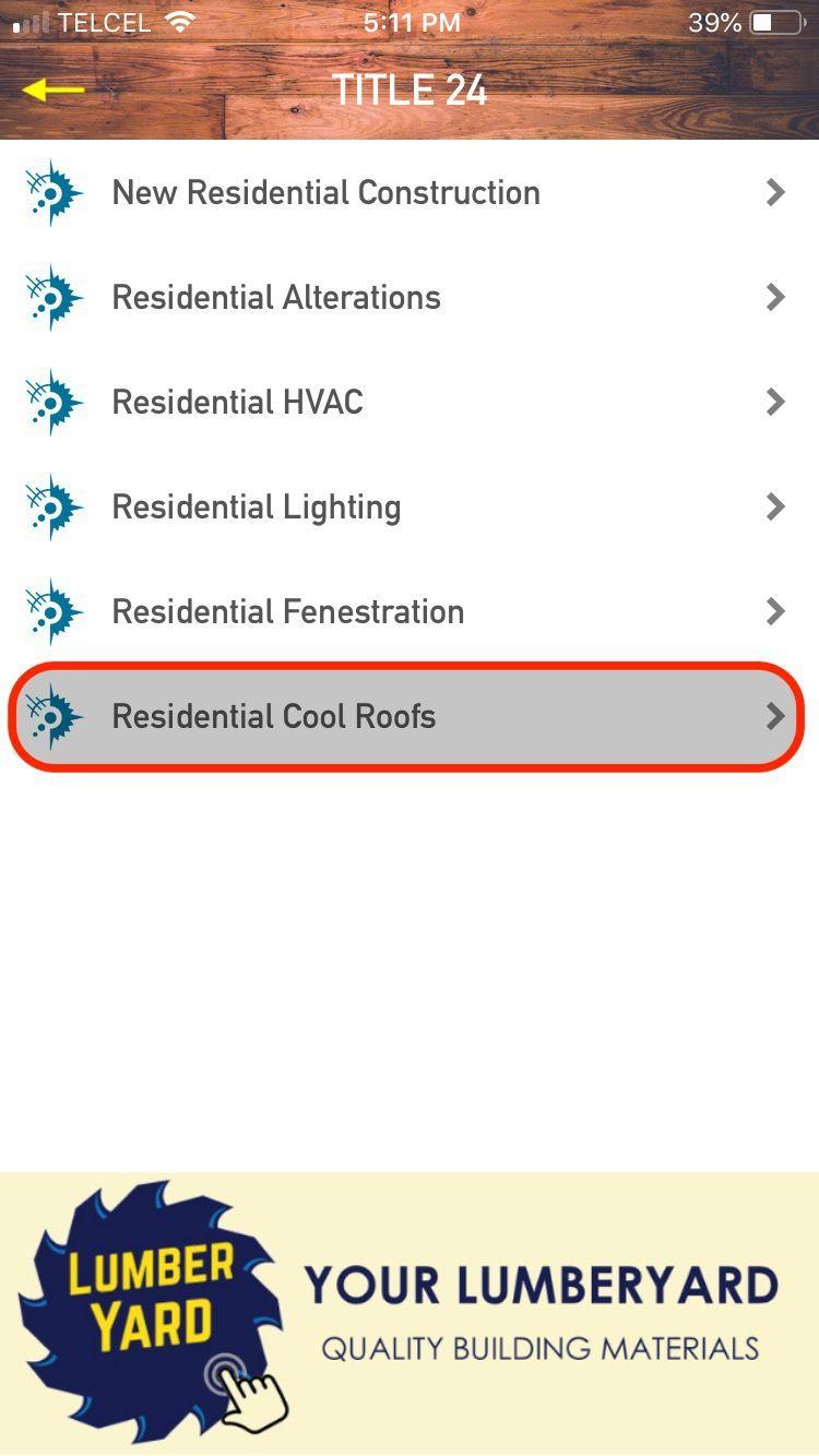 Menu: Cool Roofs