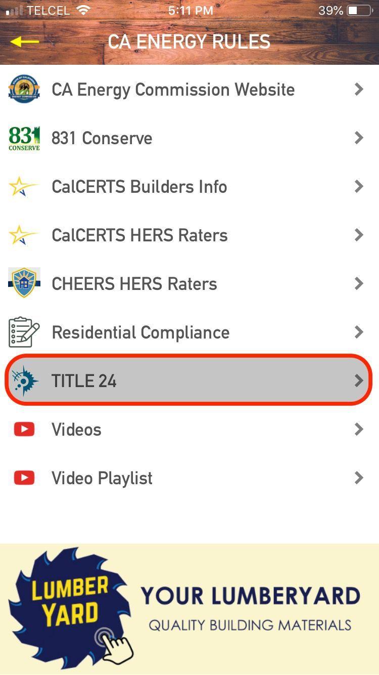 Menu: Title24