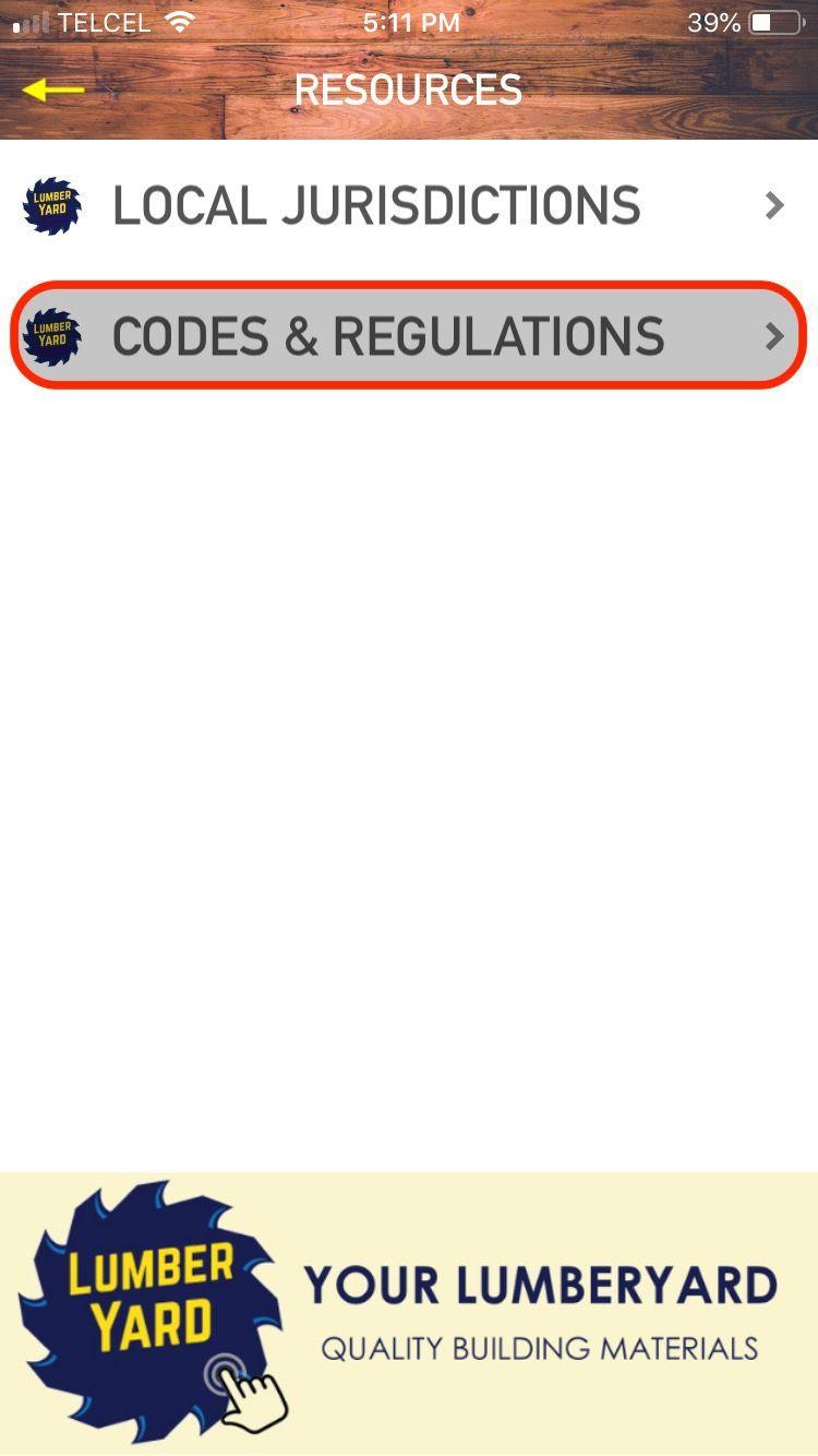 Menu: Codes & Regulations