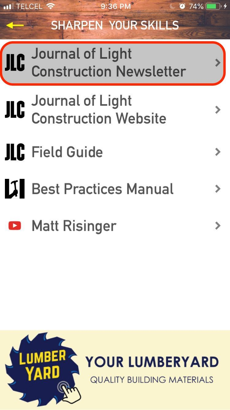 Menu: JLC Newsletter
