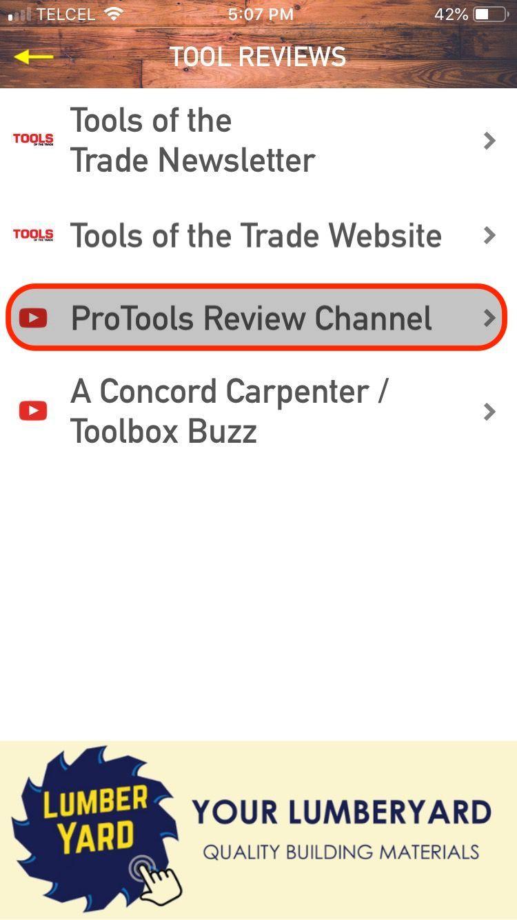 Menu: ProTools Reviews