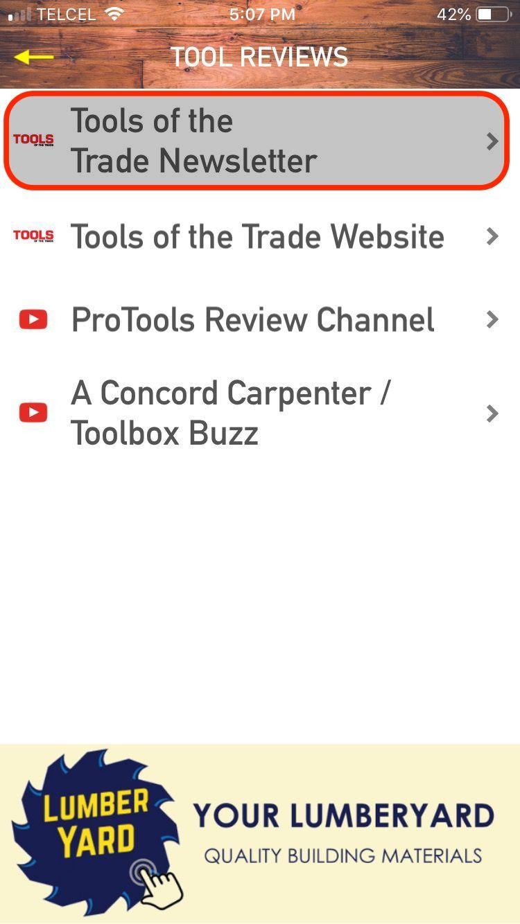 Menu: ToTT Newsletter